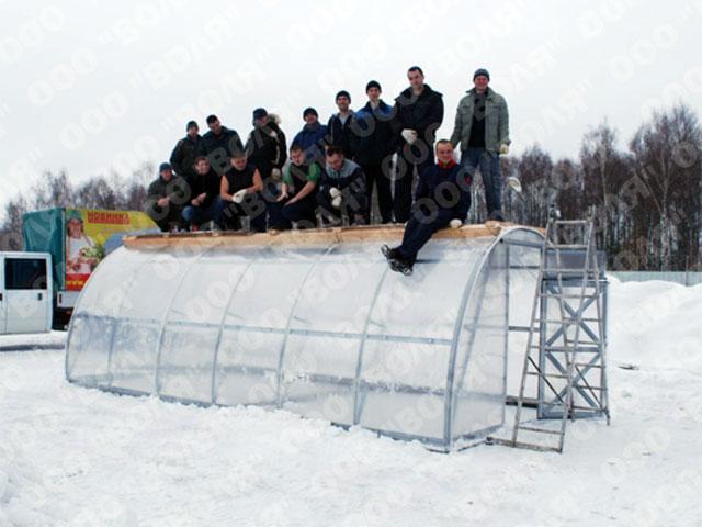 Теплица зимой, пример 1