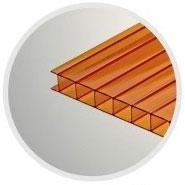 Коричневый сотовый поликарбонат 4,0 мм_0