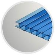 Синий сотовый поликарбонат 6,0 мм_0