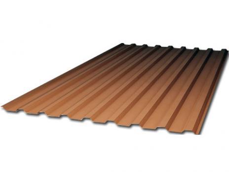 Коричневый профилированный поликарбонат 1,3 мм
