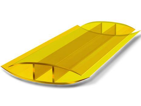 Жёлтый соединительный неразъёмный профиль