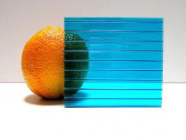 Бирюзовый сотовый поликарбонат 4,0 мм_1