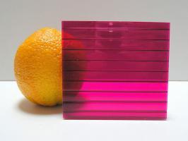 Бордовый сотовый поликарбонат 4,0 мм_1