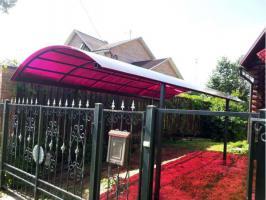 Бордовый сотовый поликарбонат 4,0 мм_2