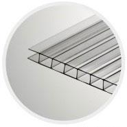 Прозрачный сотовый поликарбонат 6,0 мм «Кристалл», варианты применения 1
