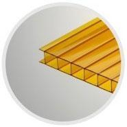 Жёлтый сотовый поликарбонат 6,0 мм, вариант применения 1