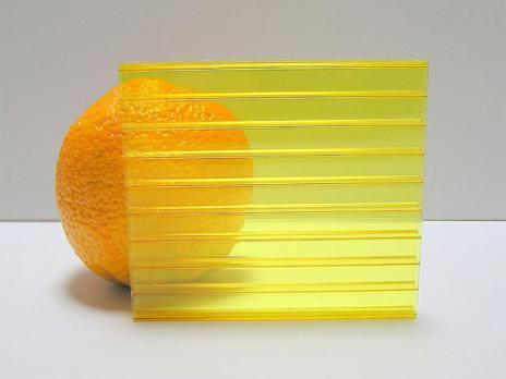 Жёлтый сотовый поликарбонат 6,0 мм, вариант применения 2
