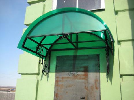 Зелёный сотовый поликарбонат 6,0 мм, вариант применения 5