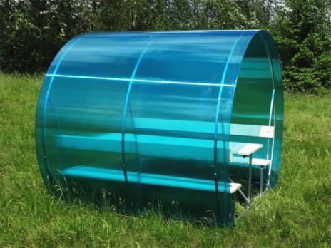 Бирюзовый сотовый поликарбонат 6,0 мм, вариант применения 6
