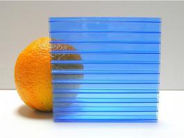 Синий сотовый поликарбонат 6,0 мм_1