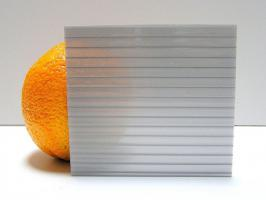 Серебристый сотовый поликарбонат 8,0 мм_1
