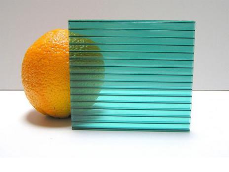 Зелёный сотовый поликарбонат 10,0 мм, вариант 2