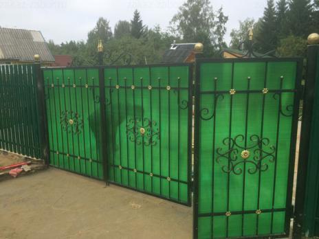 Зелёный сотовый поликарбонат 10,0 мм, вариант 3