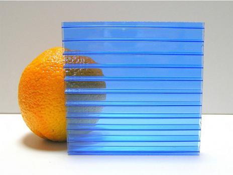 Синий сотовый поликарбонат 10,0 мм, варианты применения 2