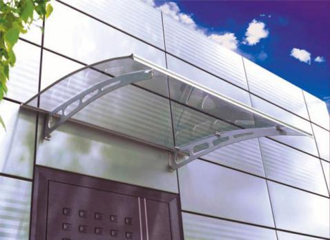 Серебристый сотовый поликарбонат 10,0 мм, варианты применения 5