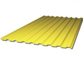 Жёлтый профилированный поликарбонат 0,8 мм, вариант применения 1