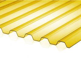 Жёлтый профилированный поликарбонат 0,8 мм_1