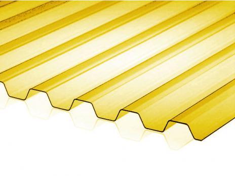 Жёлтый профилированный поликарбонат 0,8 мм, вариант применения 2