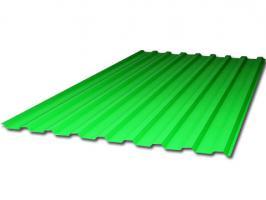 Зелёный профилированный поликарбонат 0,8 мм, вариант применения 1