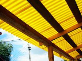 Жёлтый профилированный поликарбонат 1,3 мм_4
