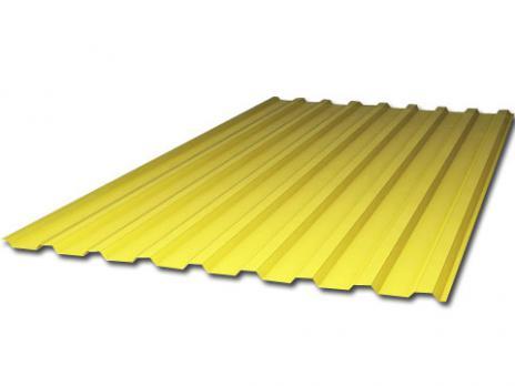 Жёлтый профилированный поликарбонат 1,3 мм, вариант применения 1