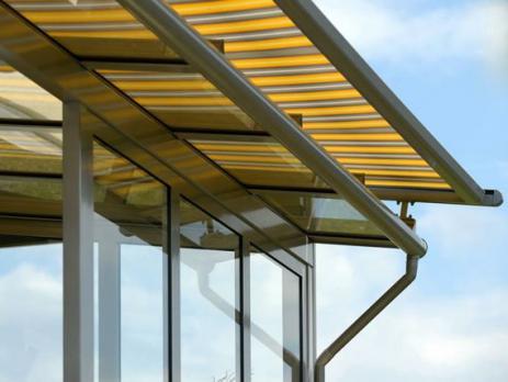 Жёлтый профилированный поликарбонат 1,3 мм, вариант применения 3