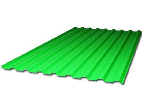 Зелёный профилированный поликарбонат 1,3 мм, вариант применения 1
