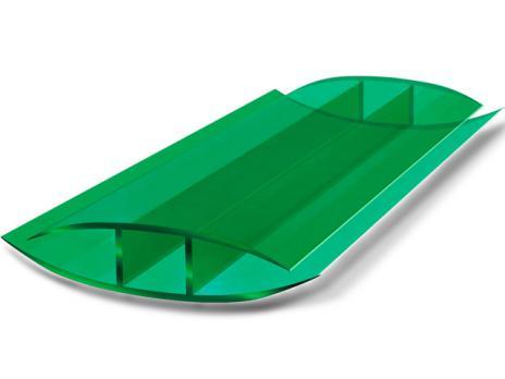 Зелёный соединительный неразъёмный профиль