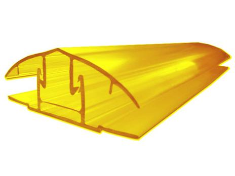 Жёлтый соединительный разъёмный профиль