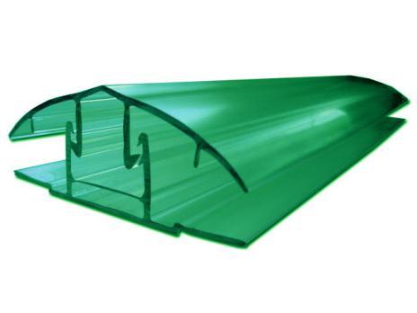 Зелёный соединительный разъёмный профиль