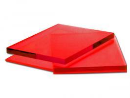 Красное оргстекло, варианты применения 1