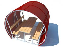Беседка из поликарбоната «Комфорт», пример 1