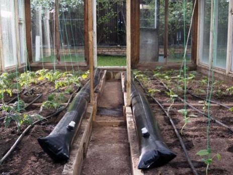Обогрев почвы в теплице, вариант 5